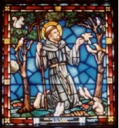 St. Francis Stained Glass Window by George Payne Studios at St. Margaret's in Washington DC.